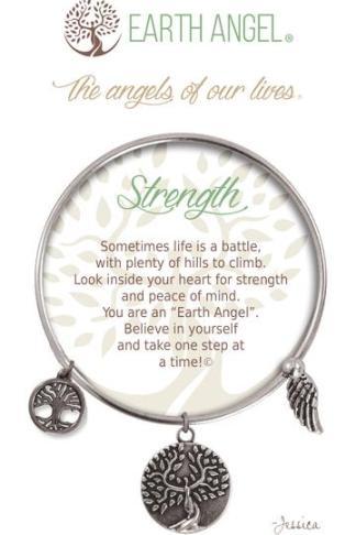 "Earth Angel Charm Bracelet ""Strength"""