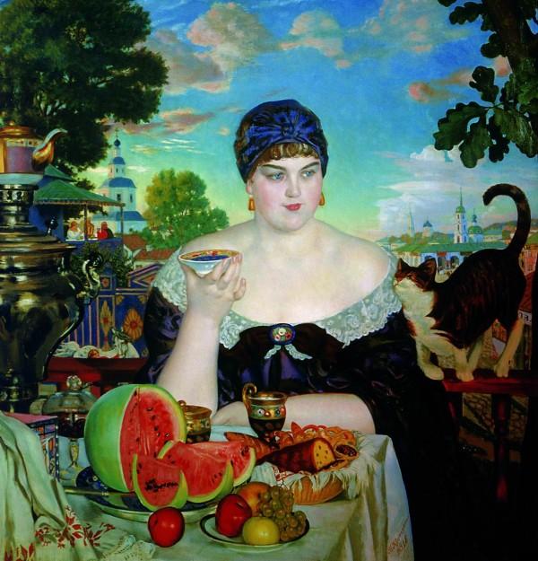 The Merchant's Wife Boris Kustodiev dalybeauty russian caravan tea