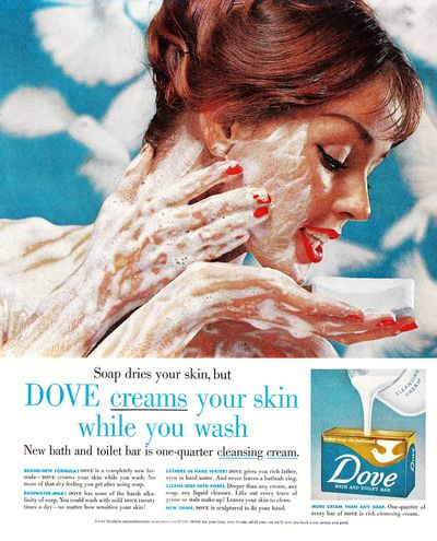 Dove beauty bar vintage ad wash face