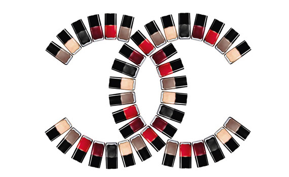 Chanel-logo-nail-polish-bottles