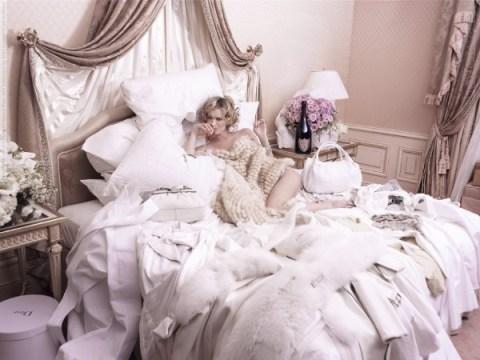 Eva Herzigova for Dom Perignon Rose Ad Campaign by Karl Lagerfeld photoshoot