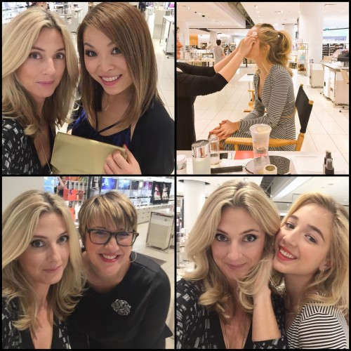 With the lovely Melody Ly, after my Amore Pacific facial, Biddy getting her La Prairie facial, & with Cara Wood, the Dior makeup genius who created Those Eyes.