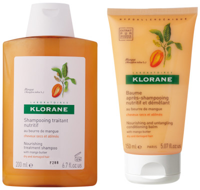 Klorane Mango Butter shampoo conditioner