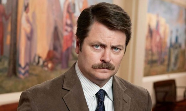 I'm pretty sure Ron Swanson smells like leather. And maybe bacon.