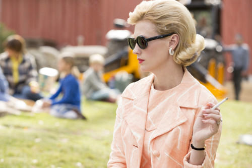 Betty on the field trip. In heels, smoking. Classic.