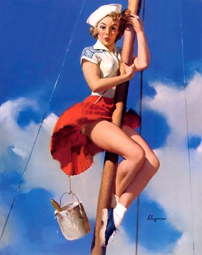 elvgren sailor woman