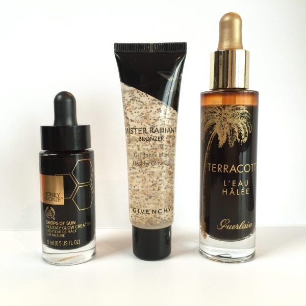 Body Shop Honey Bronze Drops of Sun_Givenchy Mister Radiant Bronzer Gel_Guerlain Terracotta L'Eau Halee_review