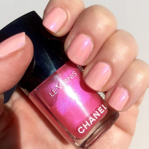 CHANEL Pink Rubber with 1 coat of Hyperrose Glass