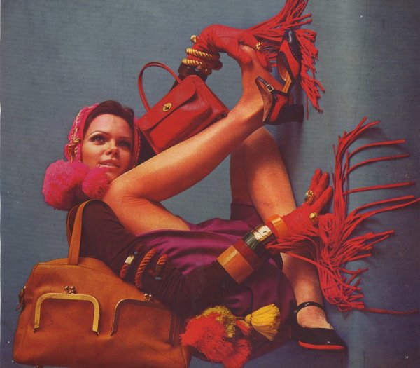vintage Coach leather goods ad