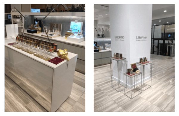 Il Profumo pop up in Saks Fifth Avenue on Queen Street in Toronto