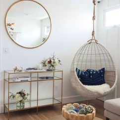 Hanging Ceiling Chair Beige Leather Roundup & Styling Ideas - Daly Digs