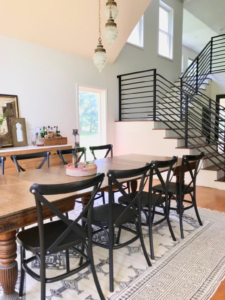Our Finished Staircase With Horizontal Stair Railing Daly Digs | Iron Stair Railing Cost | Wrought Iron Balusters | Deck | Stair Parts | Banister | Stair Treads