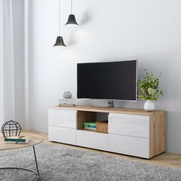 meuble tv marron conforama