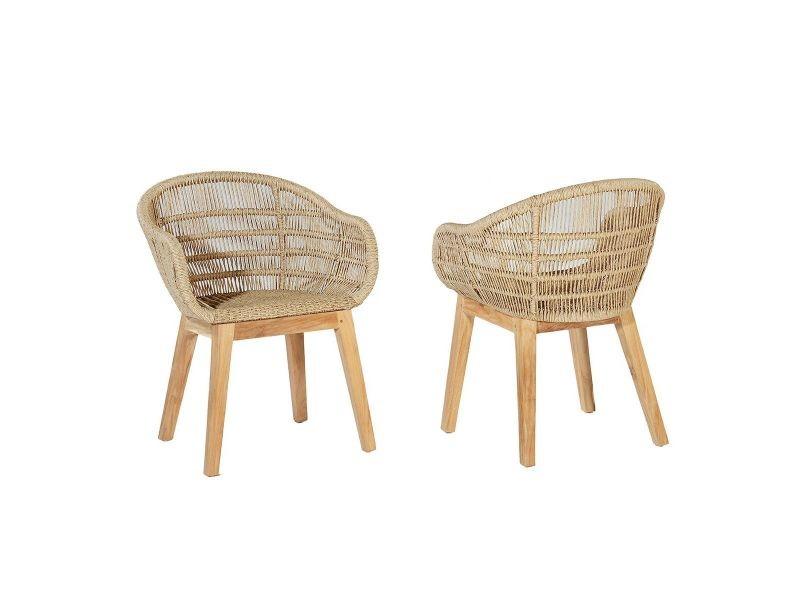 teckattitude fauteuil en resine tressee