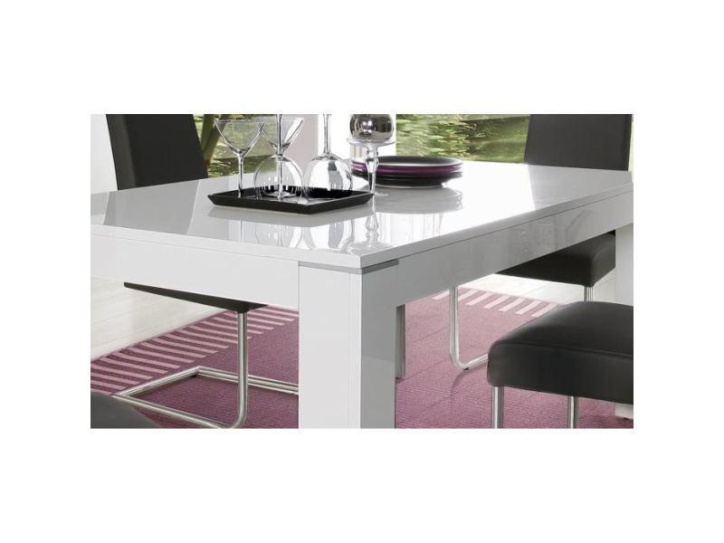 table blanc brillant
