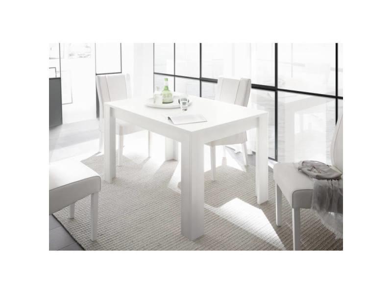 table de salle a manger contemporaine charlie coloris blanc