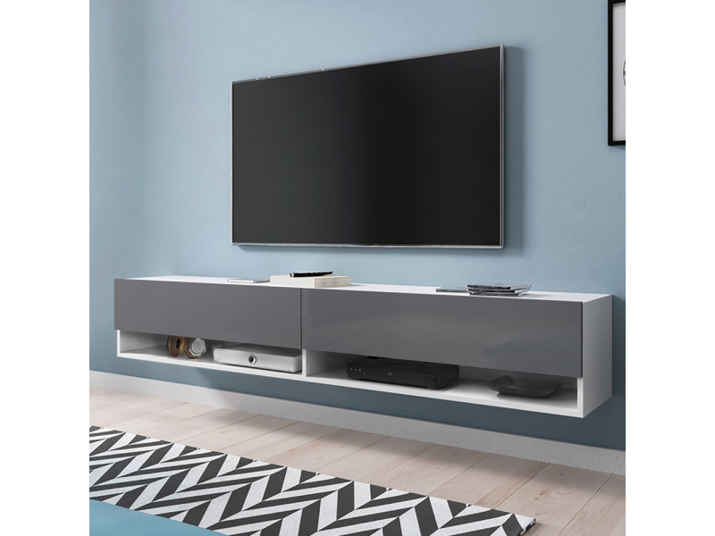 meuble tv gris mat