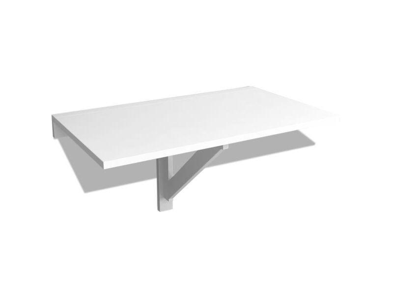 icaverne tables pliantes gamme table murale rabattable 100 x 60 cm blanc