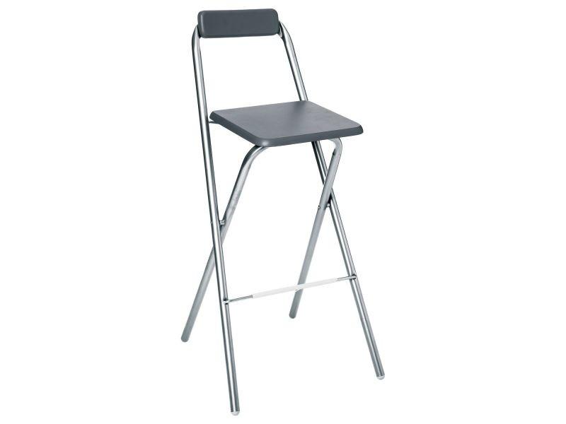 chaise de bar pliante louna gris