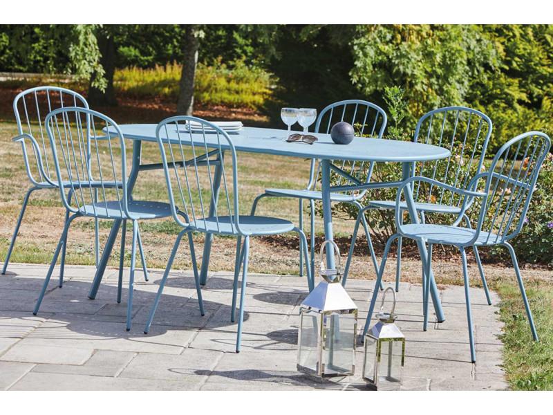 salon jardin canape metal