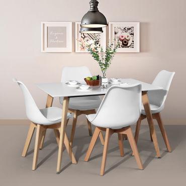 table ronde 120cm naturel rafael
