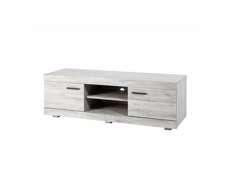 meuble tv contemporain coloris gris merry