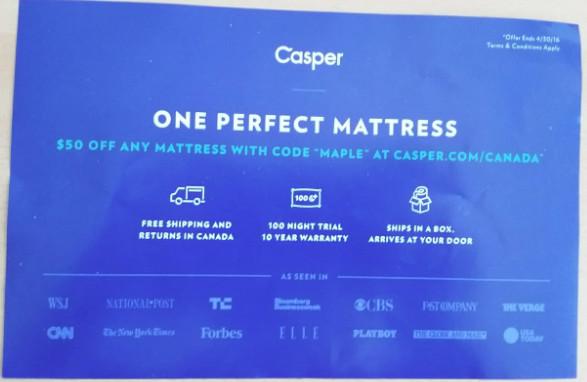 free 100 day casper mattress trial