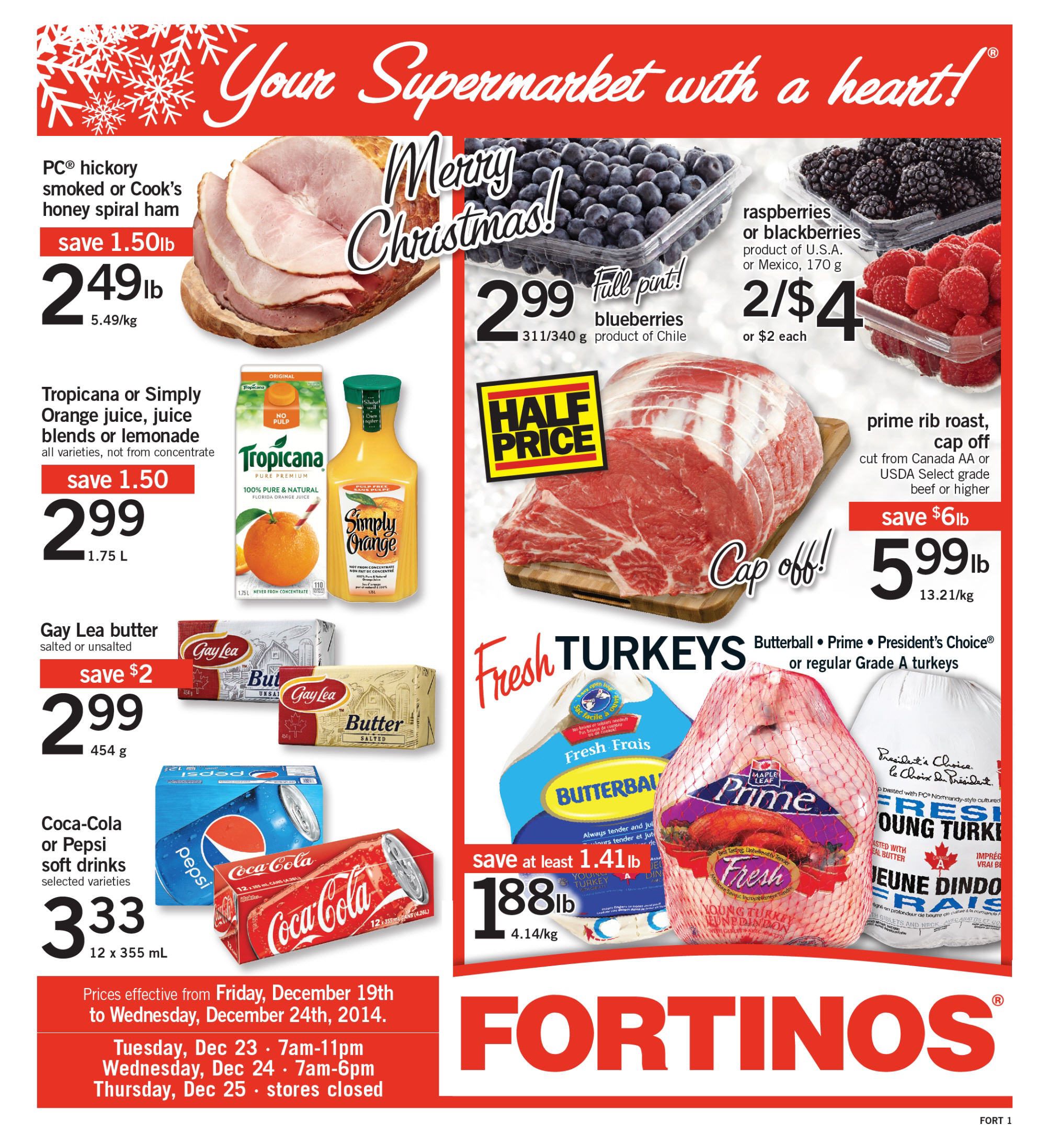 Fortinos Weekly Flyer Weekly Merry Christmas Dec 19