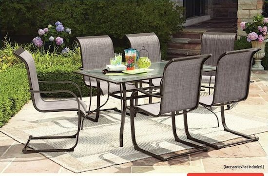 c spring patio chairs big office hometrends charleston 7 piece high back dining set yp ca