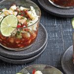 ceviche vegetariano de coliflor