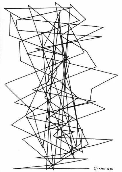 A. Michael Noll, Gaussian-Quadratic, photographic paper, 1963