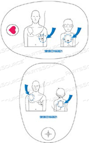 ADULT/CHILD PRE-CONNECT DEFIBRILLATION PAD, MEETS CE by