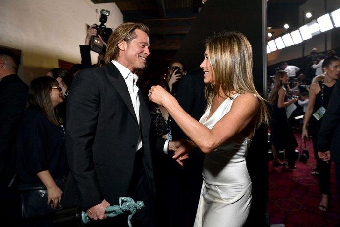 Brad Pitt and Jennifer Aniston at the SAG