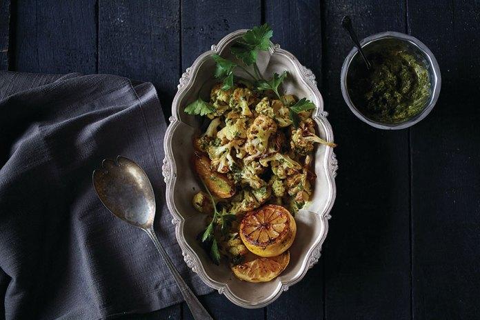 Roasted cauliflower with lemon and parsley