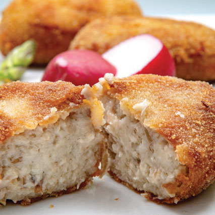 Delicious and crunchy croquettes. Enjoy its variety!