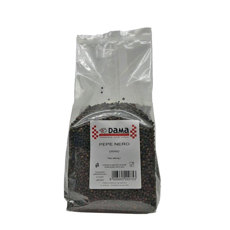 Pepe nero in grani interi per salumi e salmistrati - Confezioni da 100 gr a 1 kg