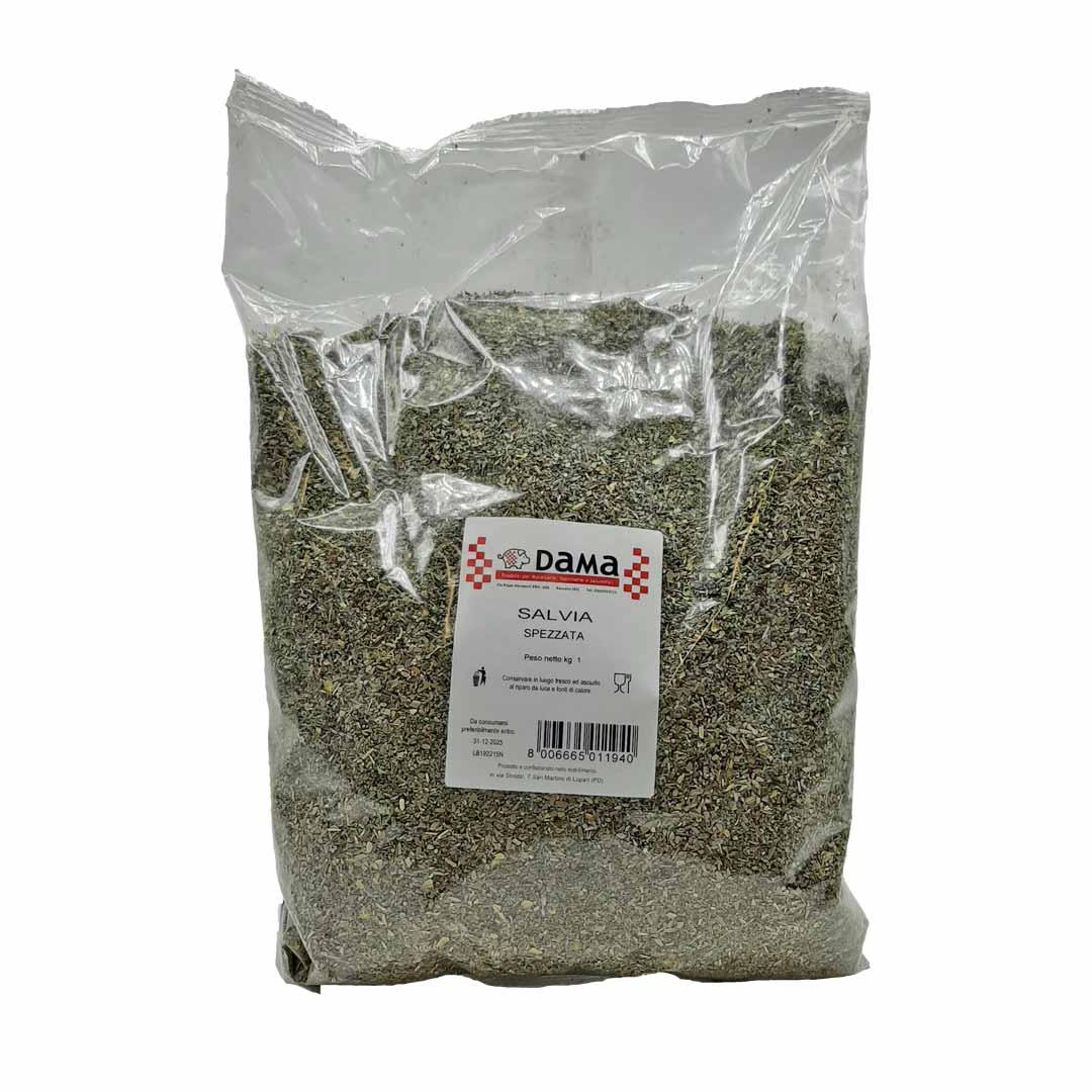 Salvia spezzata per insaporire salumi e salmistrati - Confezioni da 100 gr a 1 kg