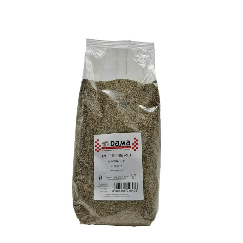 Pepe nero salarino macina 2 per salumi e salmistrati - Confezioni da 100 gr a 1 kg