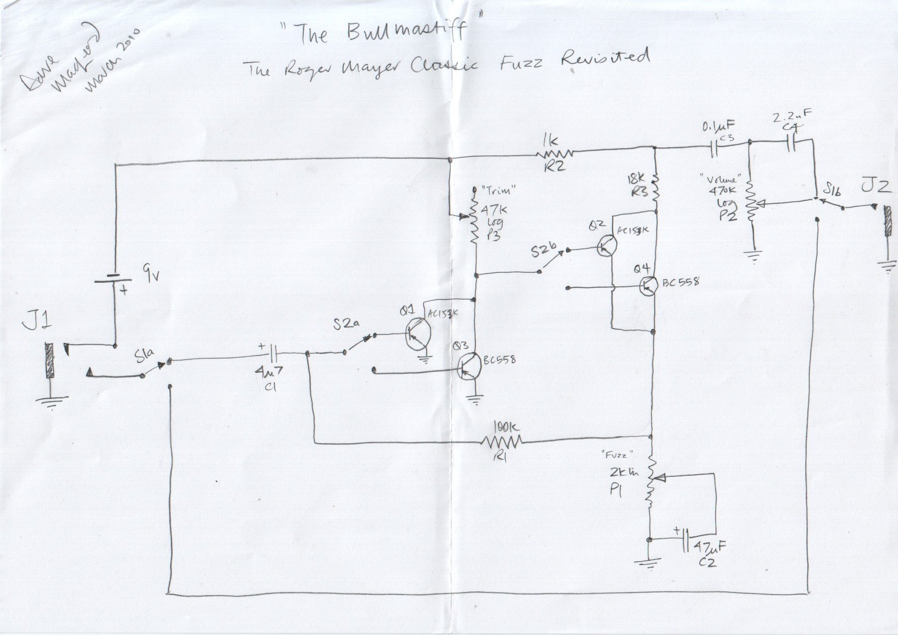 Fuzz Face Schematic Voltages
