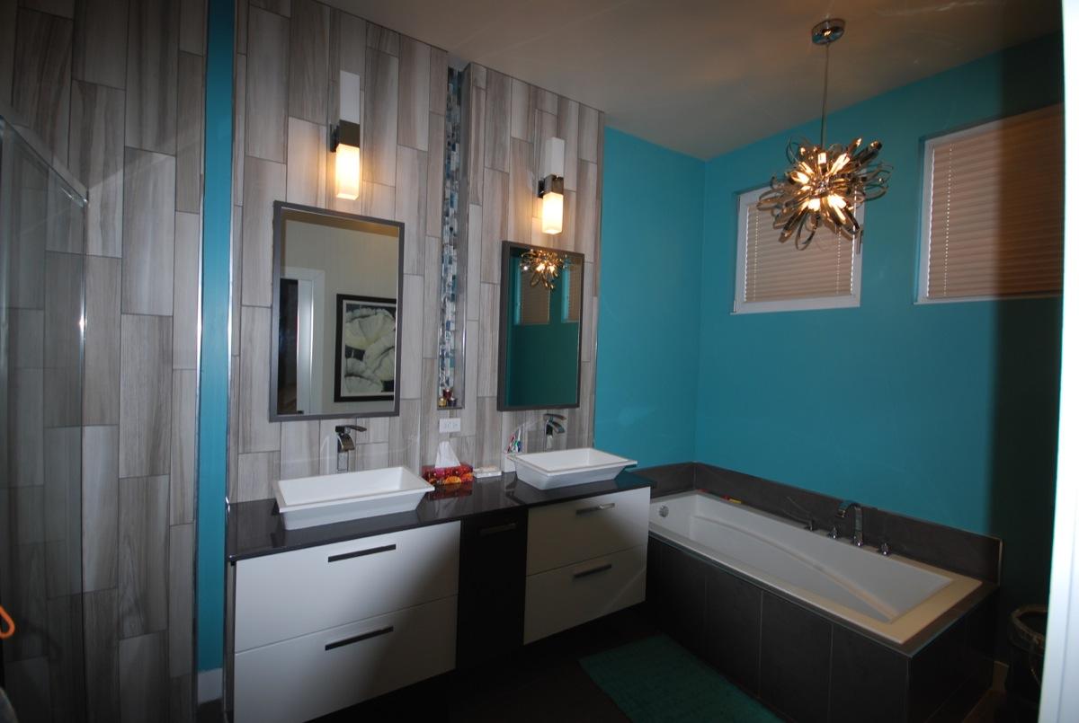 Carrelage Salle De Bain Bleu Turquoise salle de bain turquoise et marron - onestopcolorado -