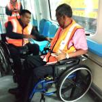 Video – Newly installed safety belt for PWDs at MRT Sungai Buloh