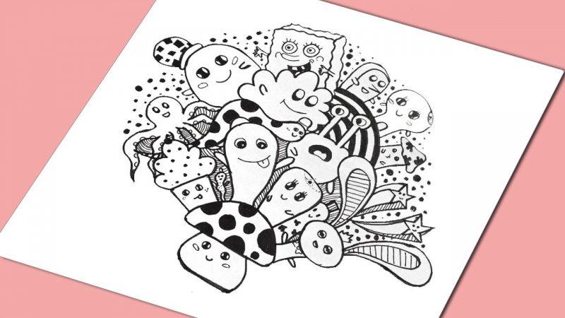 99 Tips dan Ide Gambar Doodle  2D 3D TERBARU 2019