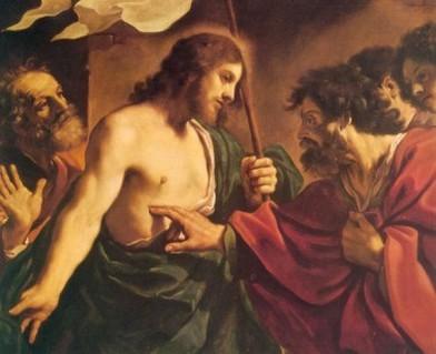 Resultado de imagem para Tomé coloca o dedo nas chagas de Jesus