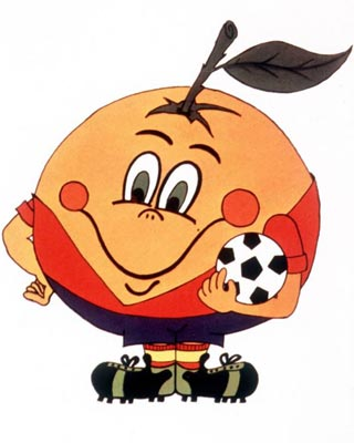 Naranjito, mascota del Mundial España82