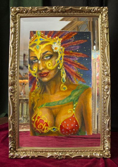Brazilian Carnaval Dancer Headdress Mirror
