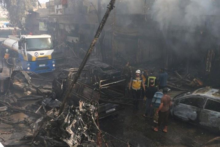 مقتل 10 من مهجري ريف دمشق في تفجير عفرين شمالي حلب