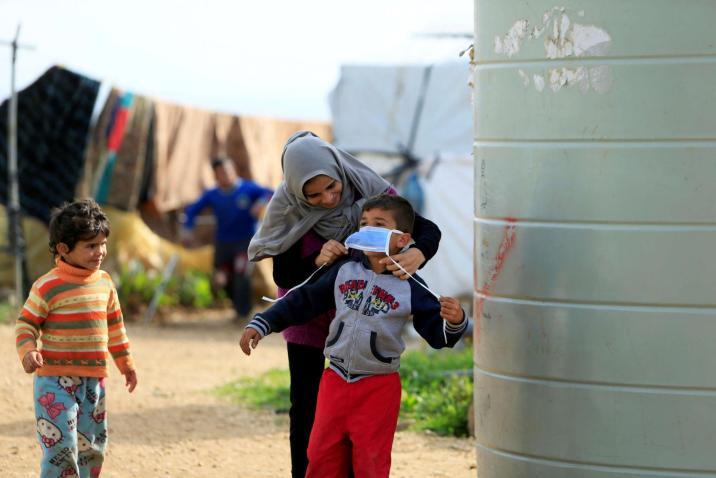كورونا 16 إصابة بين اللاجئين السوريين في لبنان