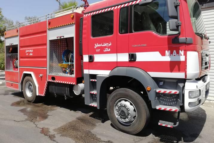 حريق في مشغل للفرو يودي بحياة رجل في دمشق