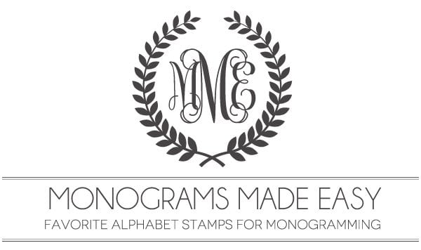 Monograms Made Easy: Alphabet Stamps for Monogramming