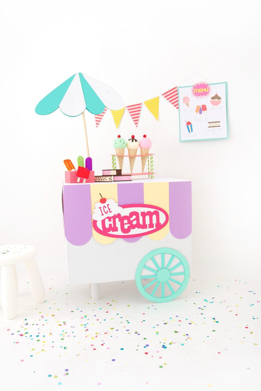 Diy Ice Cream Truck : cream, truck, Cardboard, Cream, Damask